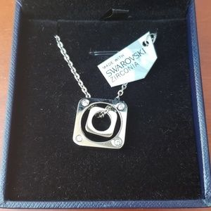 Elisa Gems Double Cubic zirconia silver necklace